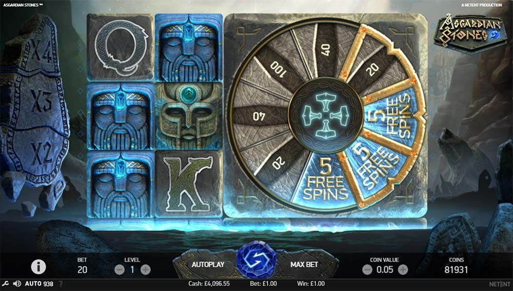 Asgardian Stones Slot Bonus Features