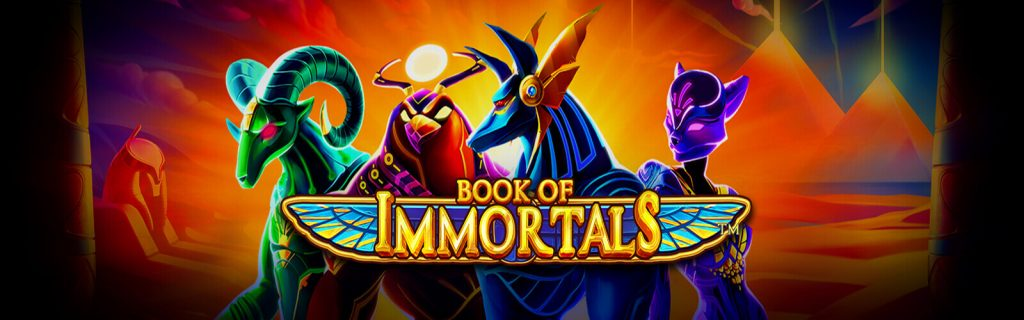 Book of Immortals Online Slots Logo King Casino